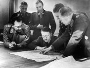 Battle of Bulge map pointing session