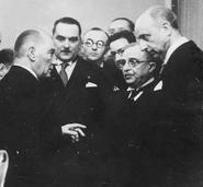 Atatürk, Stojadinović, Metaxas, Comnen. Ankara, March 1938 (Koncern Ilustrowany Kurier Codzienny)