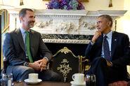 President Barack Obama and King Felipe VI of Spain, 2014
