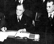 Signing the Constitution of the Philippine Commonwealth, 23 March 1935