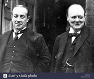 Stanley-baldwin-and-sir-winston-churchill-in-london-england-E0KNCN