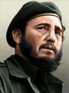 Portrait Cuba Fidel Castro