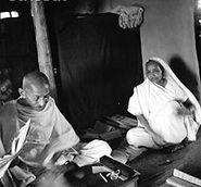 220px-Gandhi and Kasturba seated