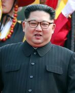 800px-Kim Jong Un with Honor Guard portrait