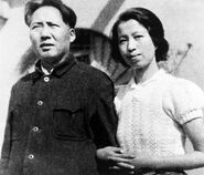 Young Jiang Qing with Mao in Yan'an