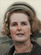 Portrait England Margaret Thatcher 60s
