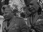 Mussolini y Badoglio