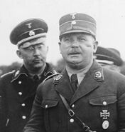 Heinrich Himmler and Ersnt Roehm (foreground)