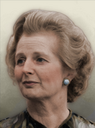 Portrait England Margaret Thatcher 70s