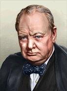 Portrait Britain Winston Churchill