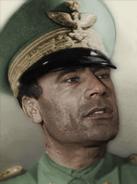 Portrait Italy Muammar al Gaddafi