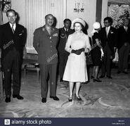 Mohamed Zair y Reina Isabel II