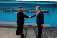 Kim Jong Un Moon Jae In