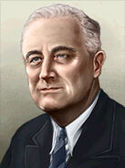 Portrait USA Franklin Roosevelt