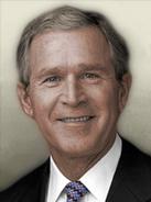 Portrait JAP George W Bush