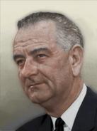 Portrait USA Lyndon B. Johnson