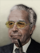 Portrait Bolivia Victor Paz Estenssoro