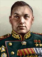 Portrait Soviet Konstantin Rokossovsky
