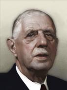 Portrait Free France Charles De Gaulle