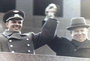 Gagarin y kruschev
