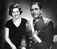 BNC Chile-Augusto Pinochet y su señora Lucía Hiriart Rodríguez.