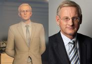 Strandberg looks like Swedish politician Carl Bildt
