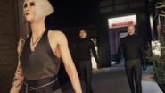 Yuki with her Bodyguards