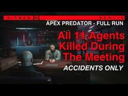 HITMAN 3 - Apex Predator -Full Run- - All 11 Agents Killed in Accidents during the Meeting - SA-AO