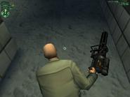 47-й несёт minigun одной рукой