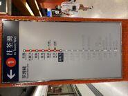 Lai Chi Kok Station platform route map board 02-08-2021