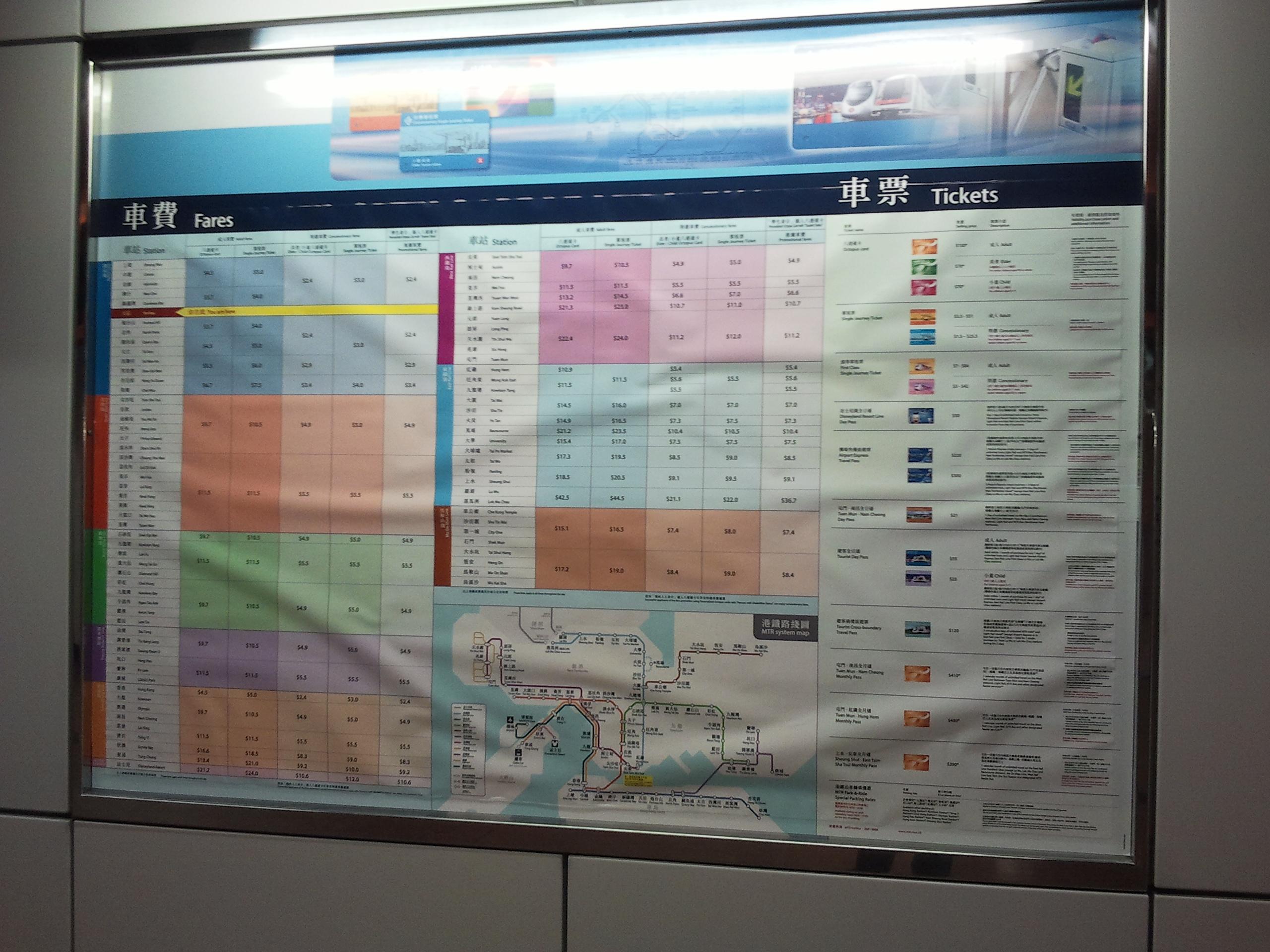 2011年港鐵車費調整