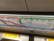 MTR Train route map before Kwun Tong Line extension 31-05-2016