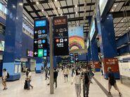 Tai Wai concourse with board 10-04-2021