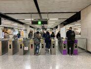 Hong Kong Station exit gate 29-01-2021