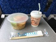 China Railway Hung Hom to Guangzhoudong food and drinks