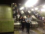 Wan Chai Station platorm 1 escalator