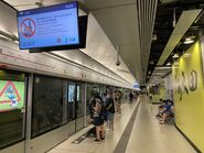 Ho Man Tin Tuen Ma Line platform 14-09-2021