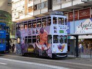 Hong Kong Tramways 166(139) to Kennedy Town 22-08-2021