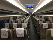 China Railway Guangzhounan to Hong Kong West Kowloon compartment 1