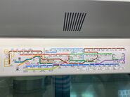 MTR Route Map in Airport Express 07-08-2021