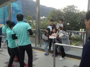 MTR Staff take photo for passengers in Ocean Park 28-12-2016