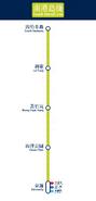 南港島綫直立路綫圖