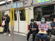 MTR TML Train run West Rail Line compartment 18-03-2020