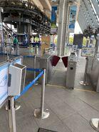 Ngong Ping 360 entry gate in Tung Chung