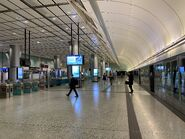 Hong Kong Station(Airport Express) platform 13-01-2021