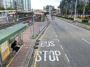 Hong Kong Wetland Park bus stop and Wetland Park Light Rail stop 22-08-2021