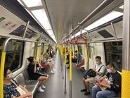MTR Kwun Tong Line compartment 16-09-2021