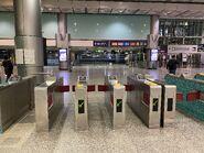 Hong Kong Station(Airport Express) exit gate 13-01-2021(2)