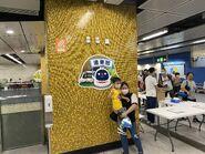 People take photo with Tuen Ma Line open logo 13-06-2021(1)