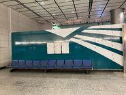 Hong Kong Station(Airport Express) platform chair 13-01-2021